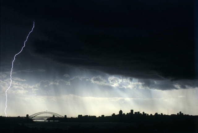 04_Sydney Australia, summer lightening storm.